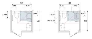 largeur minimum wc dans salle de bain interesting largeur salle de bain meuble salle de bain. Black Bedroom Furniture Sets. Home Design Ideas