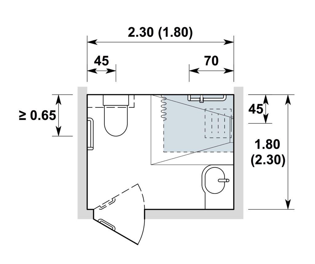 sanit rr ume in wohnbauten hindernisfreie architektur. Black Bedroom Furniture Sets. Home Design Ideas
