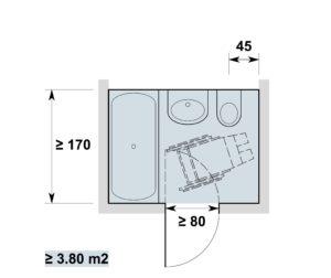Hervorragend Sanitärräume in Wohnbauten, anpassbar | Hindernisfreie Architektur EZ66