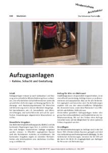 Merkblatt 020 Aufzugsanlagen