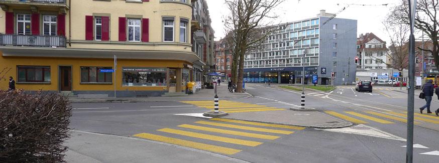 Strassenraum, Eigerplatz Bern
