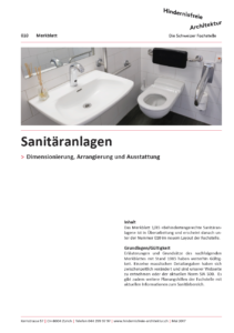 MB 010 Sanitäranlagen Titelblatt