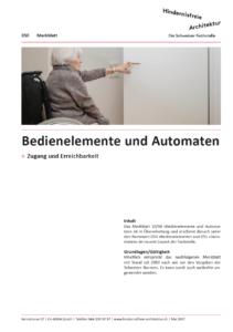 Merkblatt 050 Bedienelemente und Automaten