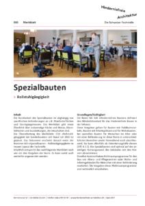 Merkblatt 065 Spezialbauten – Rollstuhlgängigkeit
