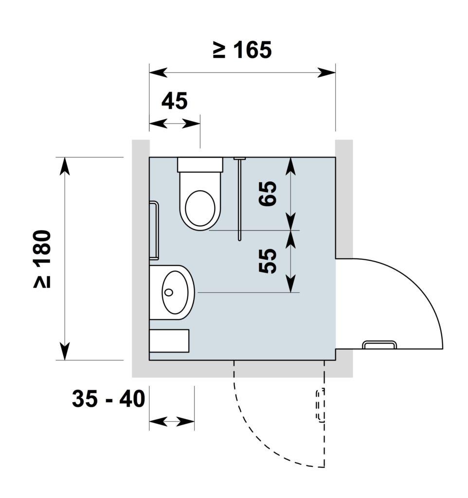 Belle Conception de toilettes adaptées au fauteuil roulant QW-06