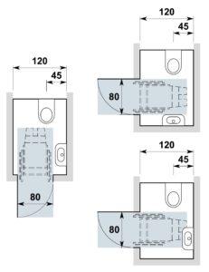 Turbo Sanitärräume in Wohnbauten, anpassbar | Hindernisfreie Architektur RY11