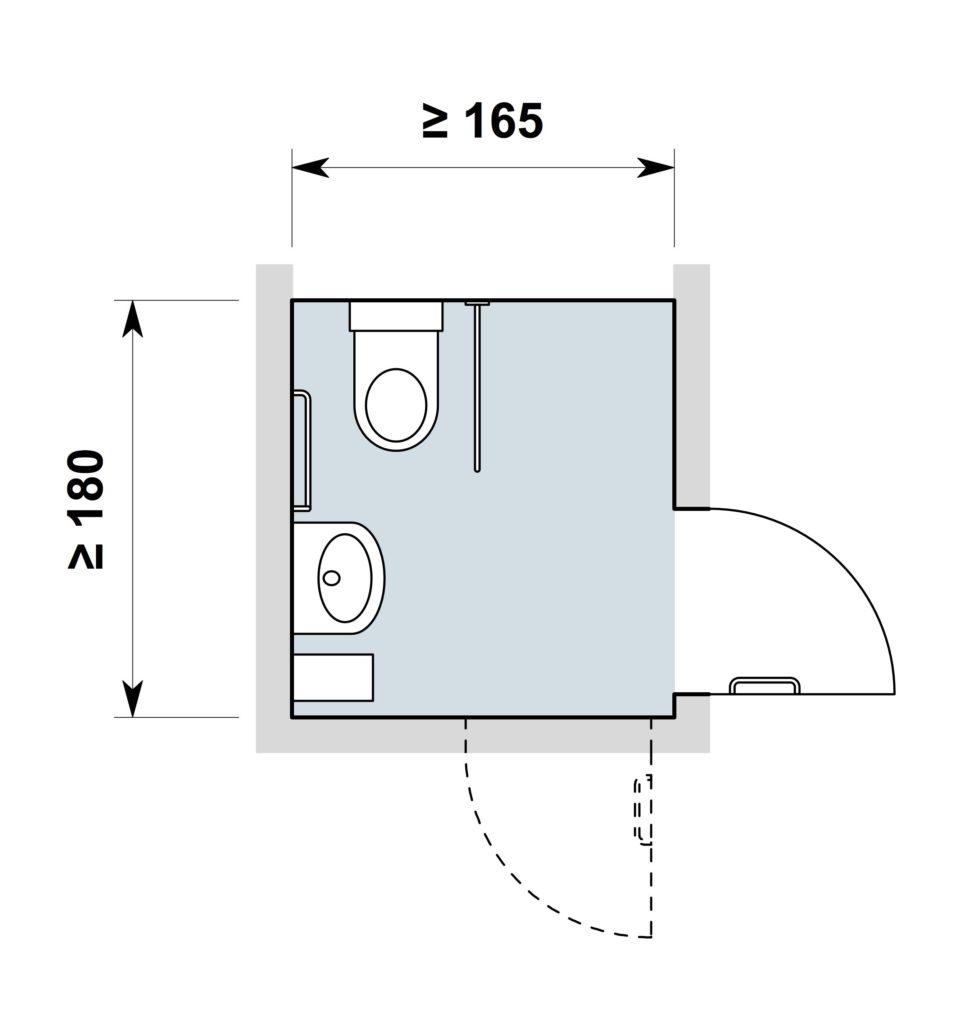 WC mit aufgesetzter Spullkaste