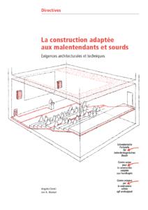 Directives La construction adaptée aux malentendants et sourds: feuille detitre