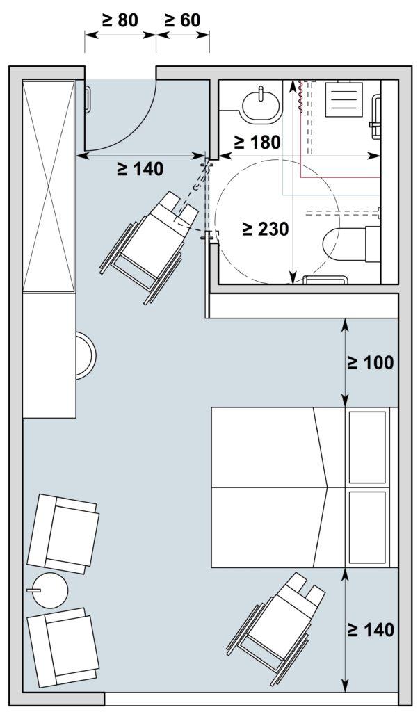 Chambre d'hôtes / Gästezimmer Typ I, Variante 1