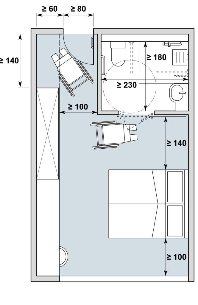 Chambres d\'hôtes type I | Architecture sans obstacles