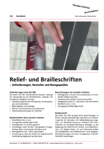 MB121 Relief- und Brailleschriften, Titelblatt