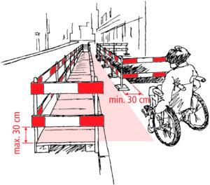 Skizze provisorischer Weg bei Baustelle aus Strassen Wege Plätze