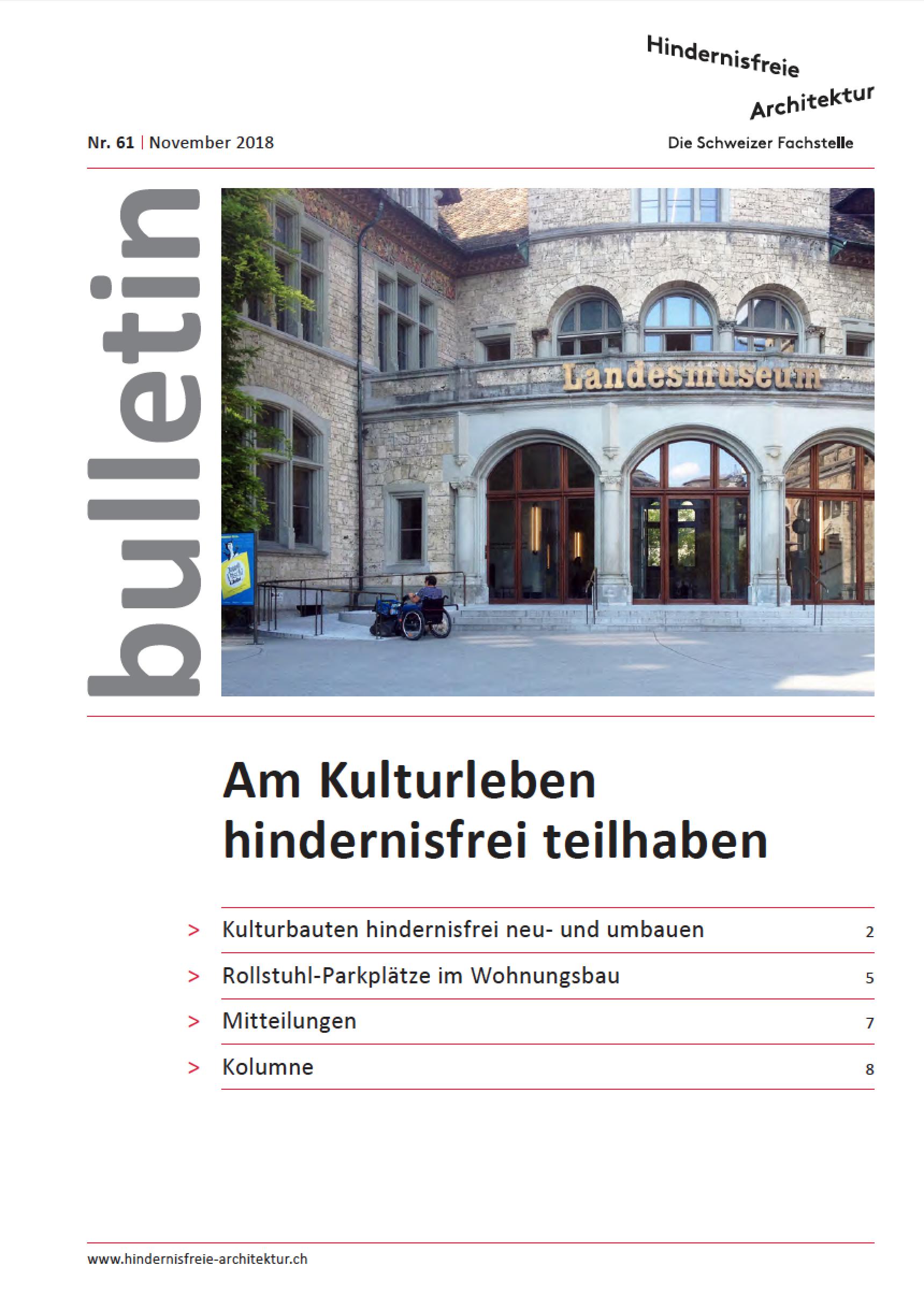 Titelblatt bulletin Nr. 61