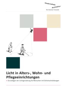 Seite 1 der Broschüre Licht in alters-, wohn- und pflegeeinrichtungen
